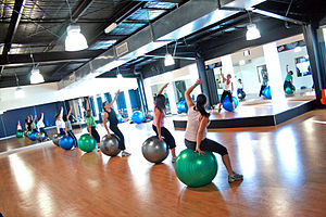 Fitball Group Fitness Class Category:Fitness C...