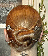 Bun with Hairsticks